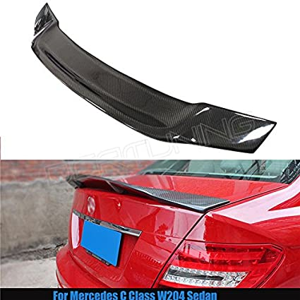 silutong for Mercedes W204 Spoiler Carbon Fiber C200 C180 C250 C260  2008-2014 C Class W204 4 Door Sedan Rear Trunk Wing Renntech Style