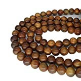 CarpenterC 200pcs 8mm Gorgeous Natural Round Polished Rosewood Loose Beads For Jewelry Making DIY Handmade Craft
