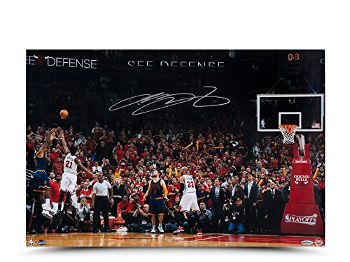 "LeBron James Signed Autographed 16X24 Photo ""Ball Game"" 2015 Cavs vs. Bulls UDA"