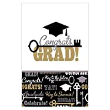 Amscan Key To Success Graduation Party Table Cover (Pack of 3), Multicolor, 54'' x 84''
