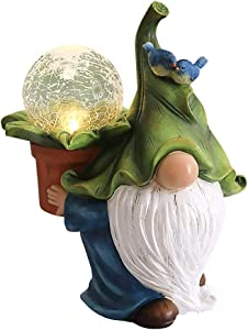 Garden Gnomes Statue with Solar Led Gnomes Garden Decorations Outdoor Funny Garden Figurines for Outdoor Home Yard Decor