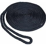 SeaSense Solid Braid MFP Dock Line, 1/2-Inch X 15-Foot, Black