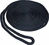SeaSense Pre-Spliced Double Braid MFP Dock Line, 1/2-Inch X 25-Foot, Black
