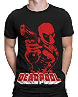 Silly Punter Official Deadpool: Breaking the Fourth Wall by Marvel Men's Cotton Tshirt