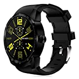 WTGJZN K98H 3G GPS WiFi Smart Watch Android 4.1 Support SIM Heart Rate Tracker 1.2GHz 4GB ROM Waterproof Bluetooth Smart Watch,Black