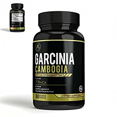 70% HCA EXTREME Pure Garcinia Cambogia Extract - Ultimate Potency - 180 Caps - Fast Action Diet Pills: Fat Burner, Carb Blocker + Appetite Suppressant for Weight Loss by IPRO
