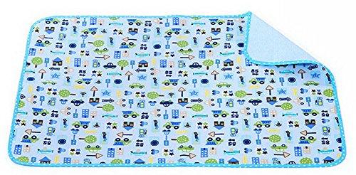 Toddler Waterproof Washable Diaper Changing Mat Pad(Cute Car)-5070cm