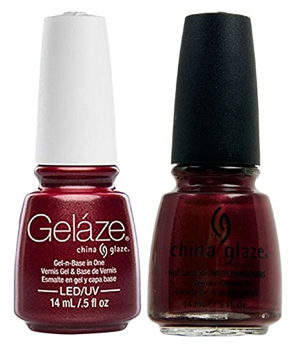 Long Wear Paint (China Glaze Gelaze Tips and Toes Nail Polish, Long Kiss, 2 Count)