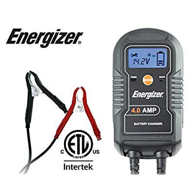 Energizer ENC4A 4-Amp Battery Charger/Maintainer: Automotive