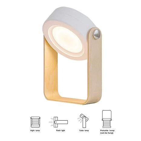 Amazon.com: Lámpara de mesa con batería de carga USB ...