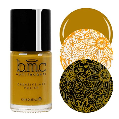Maniology (formerly bmc) Mustard Yellow Colored Creative Art Stamping Polish Set - Mythos Collection, Turmeric Sun (Best Mustard Yellow Paint Color)