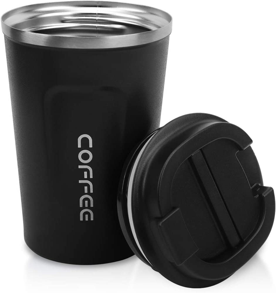 13oz Tumbler,Double Walled Insulated Stainless Vacuum Coffee Travel Mug With Leakproof Flip for Keep Hot/Ice Coffee,Tea and Beer,380ml