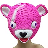 Pink Horse Soft Plush Toy Hallowmas Party Parent-child Helmet Head Mask Toys