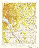 YellowMaps Gravelly Springs AL topo map, 1:62500 Scale, 15 X 15 Minute, Historical, 1924, Updated 1954, 20.7 x 16.9 in - Tyvek