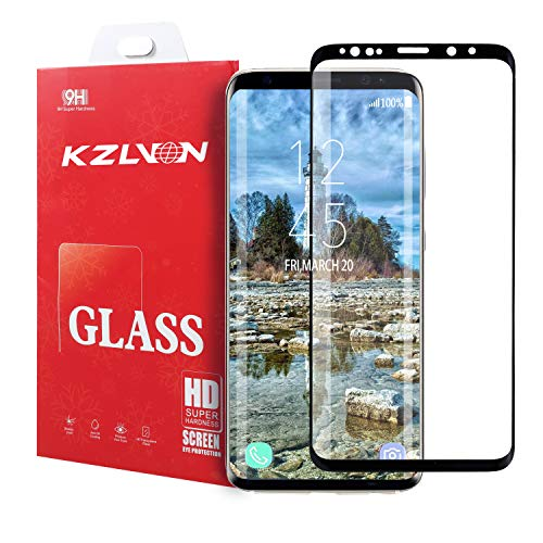 KZLVN Galaxy S8 Screen Protector Tempered Glass, [Update Version] 3D Curved Dot Matrix [Full Screen Coverage] Glass Screen Protector [Case Friendly] for Samsung S8
