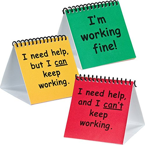 Really Good Stuff 163297 I Need Help Mini Flip Chart Set- - Flip Mini Charts