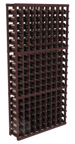 Wine Racks America Redwood 9 Column Wine Cellar Kit. Walnut Stain