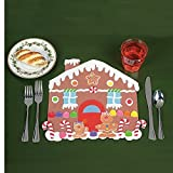 DIY Gingerbread House Placemat Kits (Makes 12) - Party Supplies