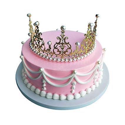 Amazon Com Panda Superstore Gold Crown Style Pretend Cake