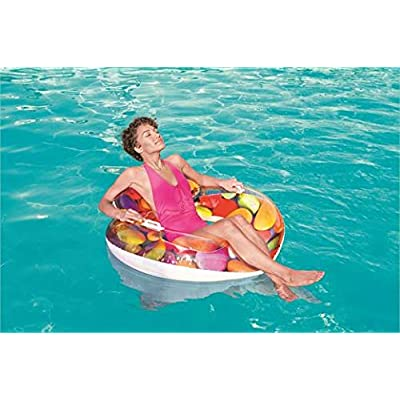 Bestway 43186E Candy Delight Lounge Pool Float, Multi-Colored: Toys & Games
