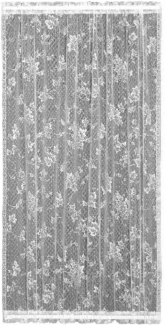 Heritage Lace English Ivy 48-Inch Wide by 72-Inch Drop Door Panel, White