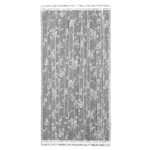 Heritage Lace English Ivy 48-Inch Wide by 72-Inch Drop Door Panel, White ()