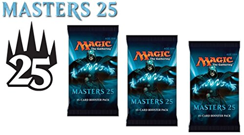 3 (Three) Booster Packs of Magic: the Gathering: Masters 25 (3 Pack - M25 Booster Draft Lot)