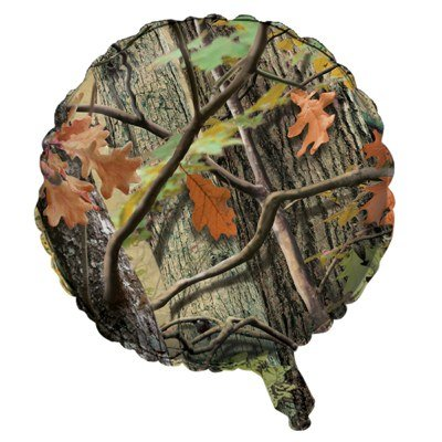 Pack of 10 Hunting Camo Metallic Foil Party Balloons]()