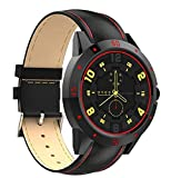 MTK2502C Smart Watch Fitness Tracker for Android iOS (Black Leather)