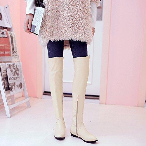 Stivali Di Alti Stivali BIGTREE Comodo Piatto Sopra Beige Ginocchio Inverno Elegante Donna 8wapz