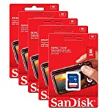 5 Pack Sandisk 8GB 8 GB SD SDHC Class 4 Flash Memory Card