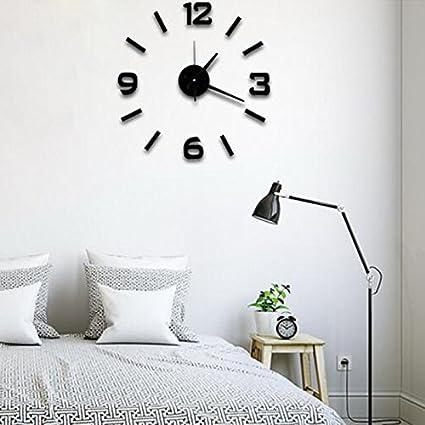 Amazon.com: Super silent large decorative wall clocks home decor diy ...