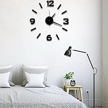 Super Silent Large Decorative Wall Clocks Home Decor Diy Clocks Living Room  Mural Wall Sticker (
