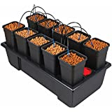 Wilma Small Wide 10 x 6 Litre Pot Hydroponic Dripper System + Black Orchid Pro Timer by Wilma
