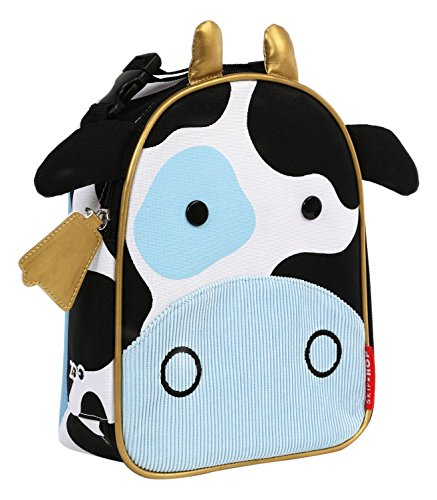 Skip Hop Baby Zoo Little Kid and Toddler Insulated and Water-Resistant Lunch Bag, Multi Cheddar Cow