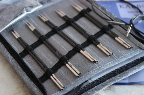 Knitter's Pride Karbonz Starter Interchangeable Long Tip Knitting Needle Set 110601 by Knitter's Pride
