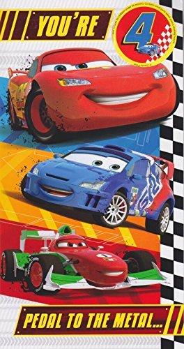 Disney Cars Age 4 Birthday Card Badge 4th Amazon