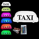 Waterproof RGB Taxi Top Light change/car LED Roof Sign dome light 12V with Magnetic Base 3M Cigarette lighter plug line