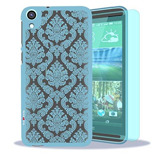 HTC Desire 820 Case, ToPerk (TM) Imperial Lace Ultra Slim Hybrid Case + Free HD Screen Protector & Stylus Pen As Bundle Sale - Light Blue