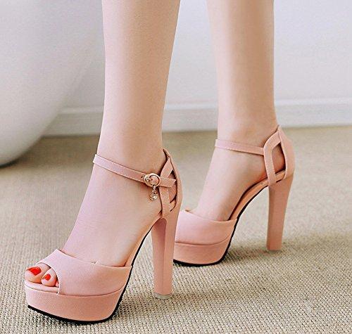à Femme Belle Peep Rose Chaussures Talon Haut Aisun Sandales Cérémonie Toe xHqwaa
