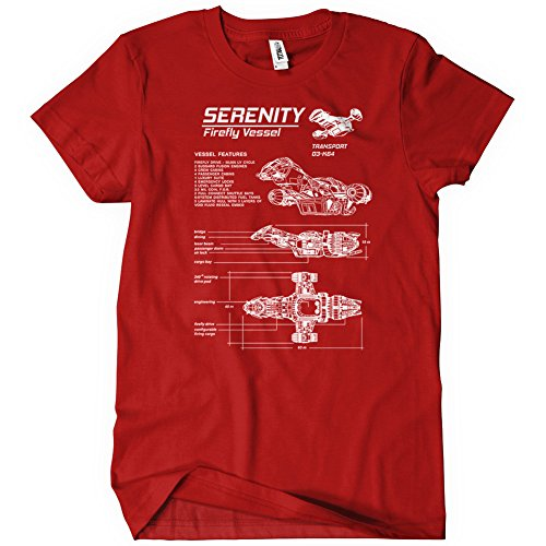 Serenity Blueprint T-Shirt Funny Adult Mens Cotton Tee Sizes S-5XL
