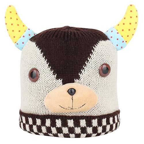 SHOP FRENZY Fancy Woolen Kids Cap for Baby Girl and Baby Boy Winters Beanie Ear Earner Halloween Halowen Cap Costume | 1-3 Years]()