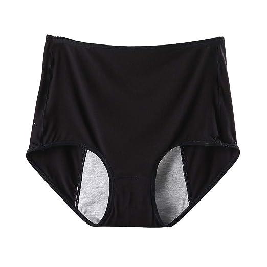 d80ae5b16ec Julexy Panties for Women Big Size Cotton Menstrual Period Underwear High  Waist Plus Size Brief 5066