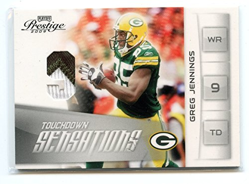 2009 Playoff Prestige TD Sensations Materials #20 Greg Jennings Packers Jersey