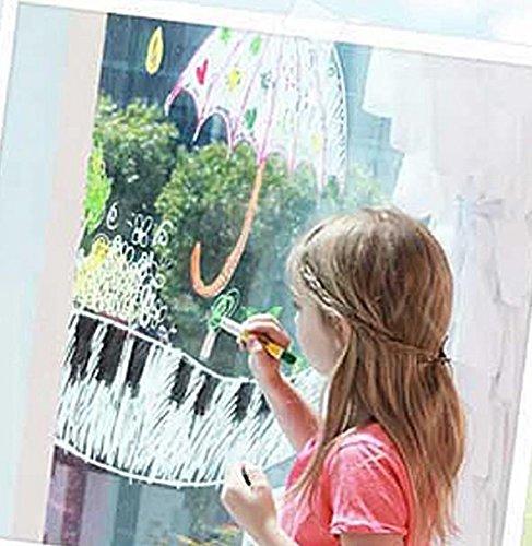 Toru Window Glass Color Crayon Marker Washable Paper Aqua Non-toxic 12 Colors by Toru (Image #1)
