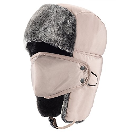 Mysuntown Unisex Winter Trooper Hat Hunting Hat Ushanka E...