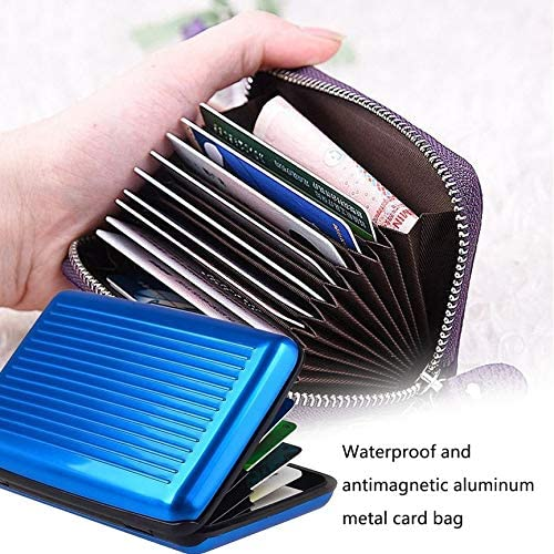 Waterproof Aluminum Alloy Men Women Business Cards Holder Credit Card Unisex ID Cards Holder Wallet Purse anyilon