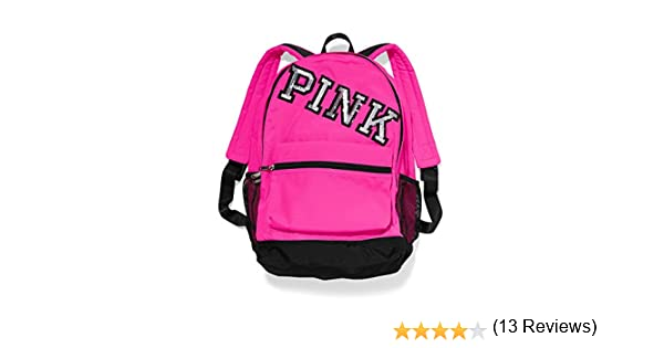 Amazon.com: VICTORIA'S SECRET PINK Campus Backpack - Neon Hot PINK ...
