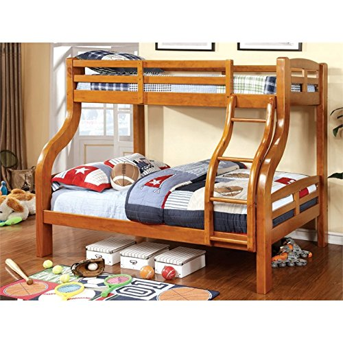 (HOMES: Inside + Out ioHOMES Curlie Bunk Bed, Twin/Full, Oak)