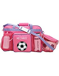 Personalized Kids Pink Soccer Sport Bag, 19 Long, Girls Soccer Bag